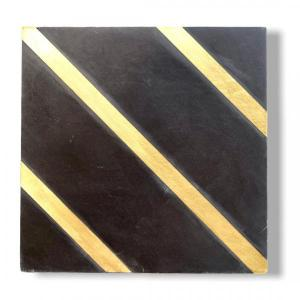 Golden Lines Black 20x20x1.2