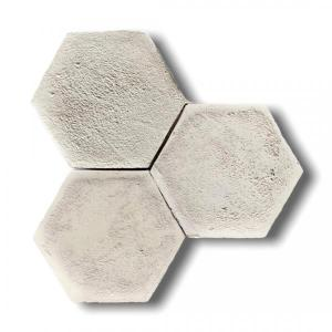 Aged White Hexagone Terracotta 15x7.5x2