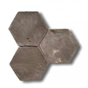 Aged Chocolate Hexagone Terracotta 15x7.5x2