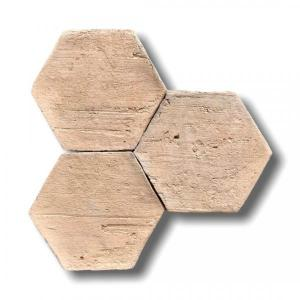 Aged Natural Hexagone Terracotta 15x7.5x2