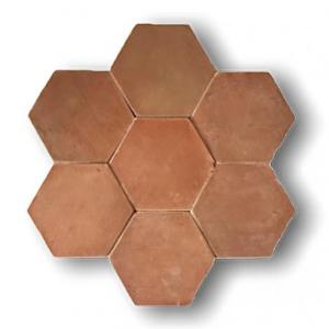 Red Terracotta Hexagone 18x18x1.4